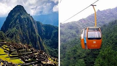 ascensor a Machu Picchu