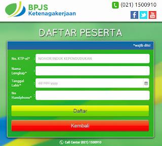 form pendaftaran bpjs ketenagakerjaan untuk perorangan