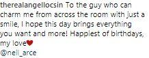 Angel Locsin's Sweet Birthday Message To Neil Arce