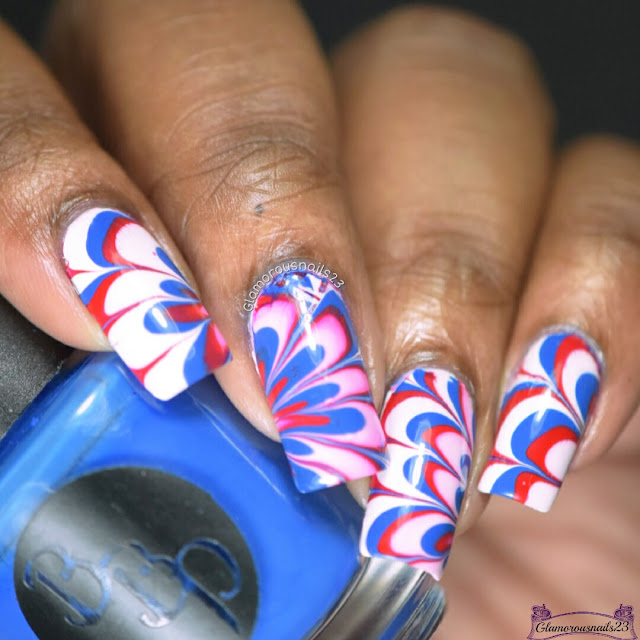 Watermarble Wendesdays: Red, White & Blue