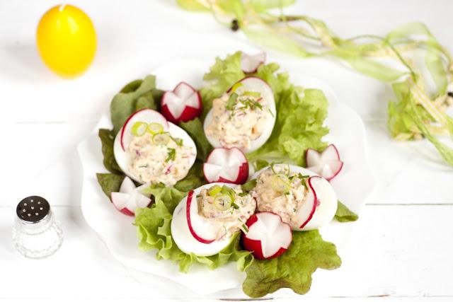 potrawy wielkanocne, jajka faszerowane