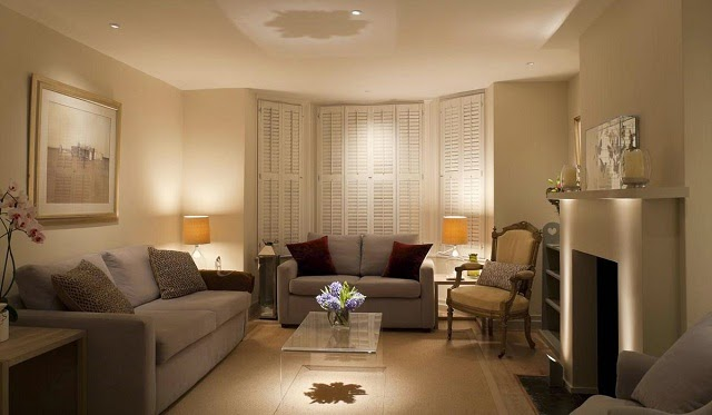 Warm and Cozy Living Room Lighting