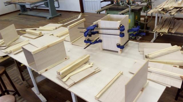 Cachepot de madeira e MDF