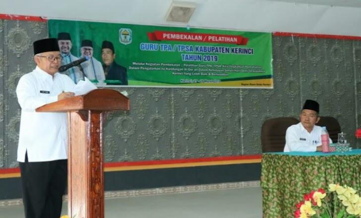 Wabup Kerinci Ami Taher Buka Pembekalan dan Pelatihan Guru TPA/TPSA