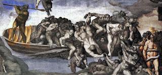Michelangelo Juizo Universal CApela Sistina Caronte Biagio Cesena - O Juízo Final do Michelangelo