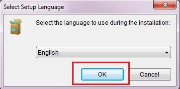 Sobat pilih bahasa untuk programnya, jika sudah klik Ok.
