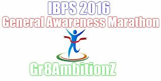 IBPS PO Clerks GA Quiz 2016
