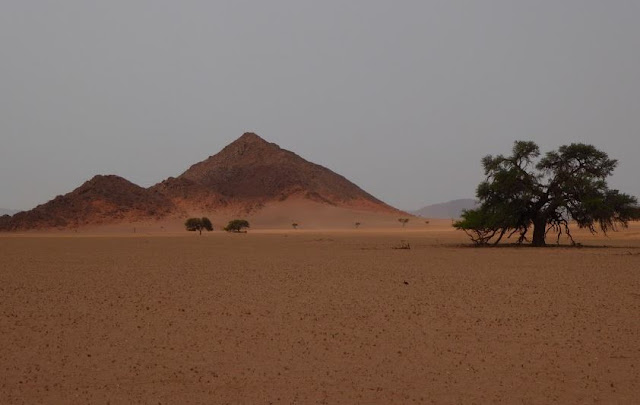 bellissimo panorama lungo la D707 in namibia