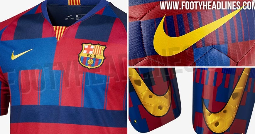 full nike fc barcelona 20 years  u0026 39 mashup u0026 39  collection leaked
