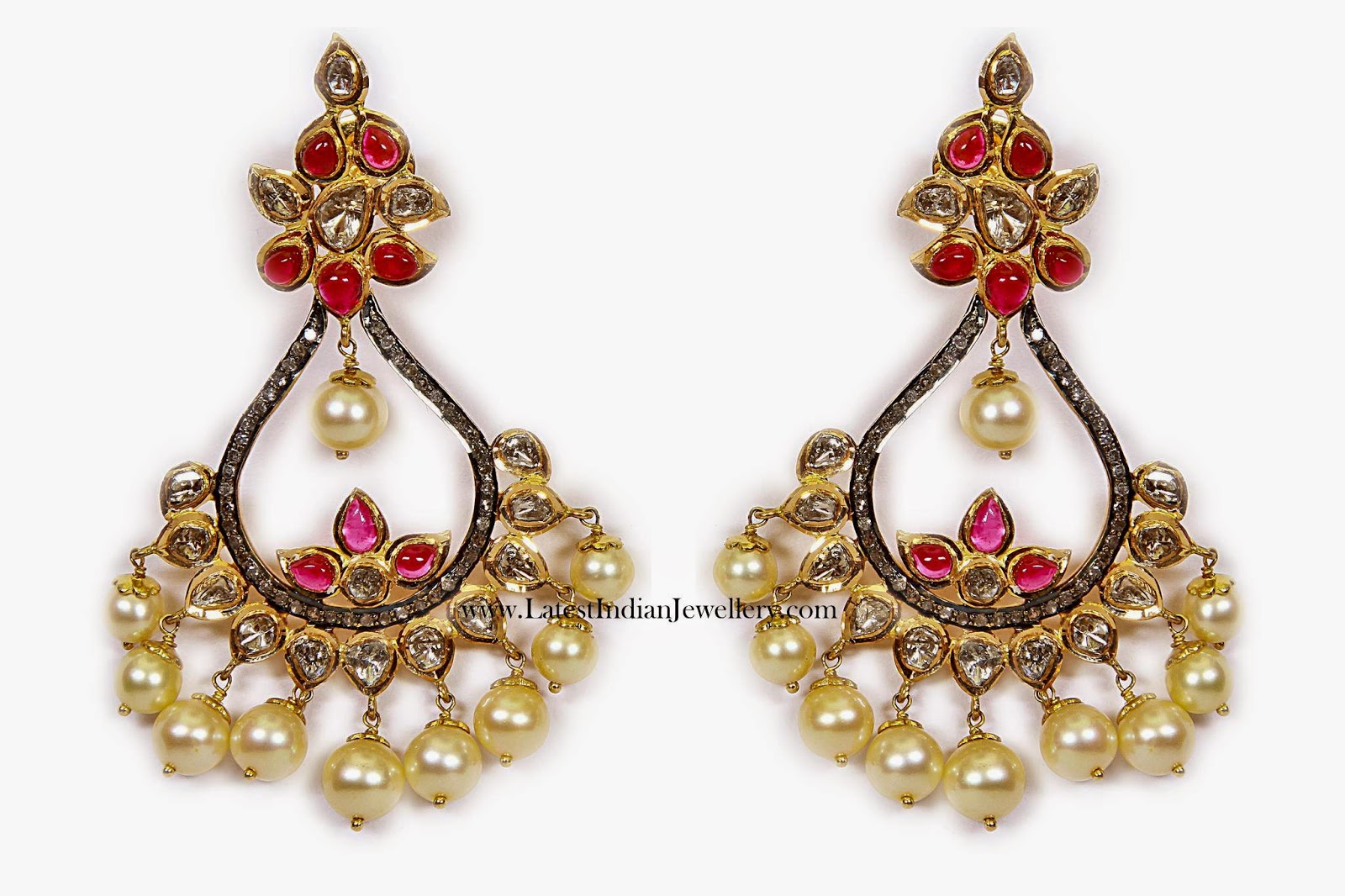 Polki Diamond ChandBali Earrings