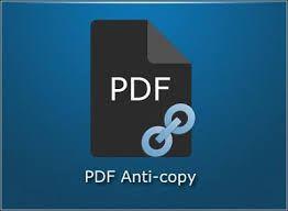 PDF Anti Copy Free Download 2020 latest