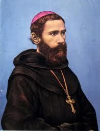 San Ezequiel Moreno con habito de Agustino Recoleto