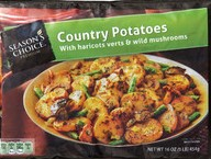 Stock image of Season's Choice Country Potatoes with Haricots Verts & Wild Mushrooms, from Aldi