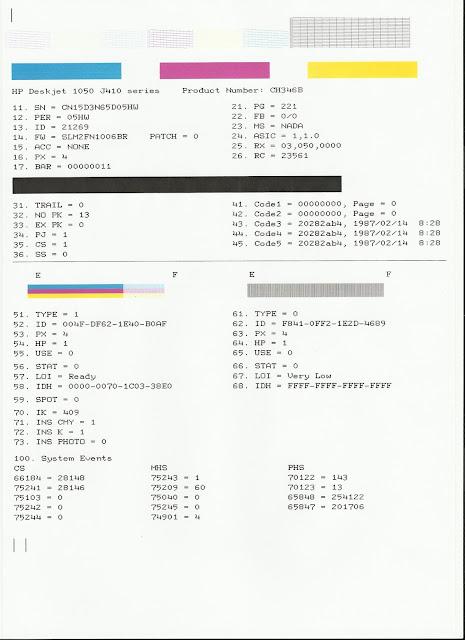 Print test HP Deskjet 1000