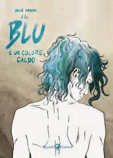 copertina grafic novel il blu è un colore caldo