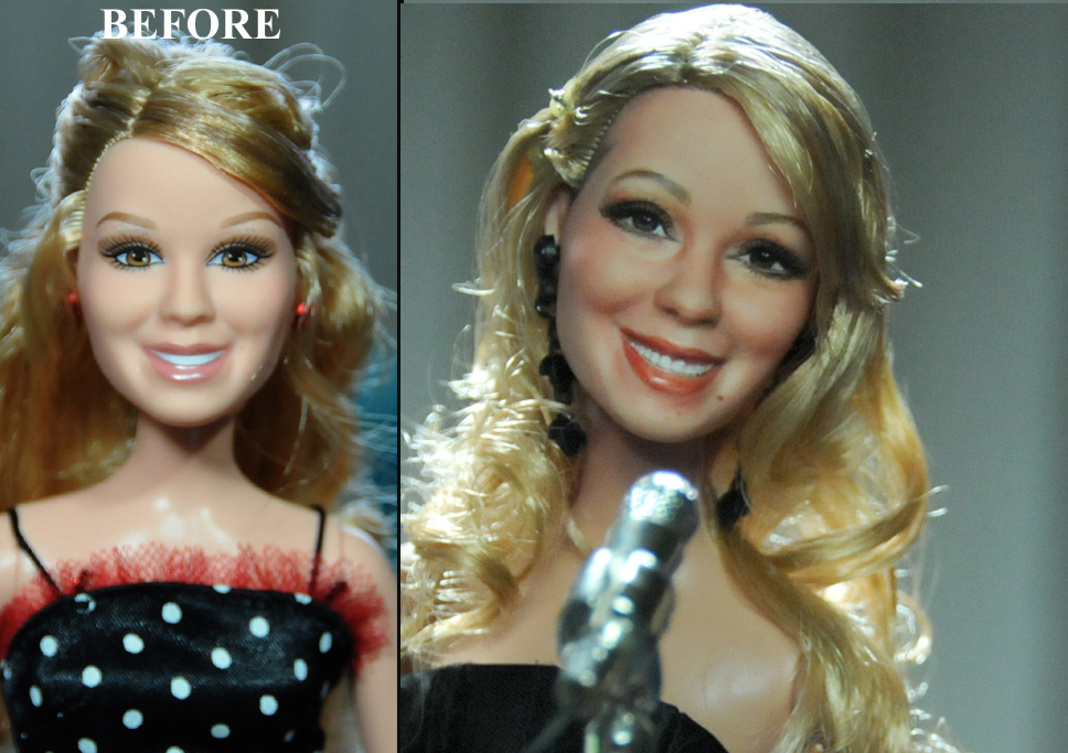 21-1990s-Style-Mariah-Carey-Noel-Cruz-Hyper-Realistic-Make-up-on-small-Dolls-www-designstack-co