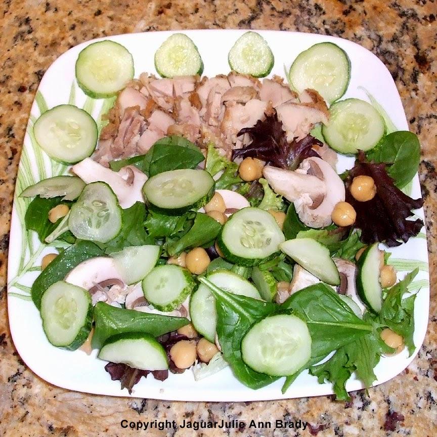 Breaded Baked Boneless Skinless Chicken Thigh Salad