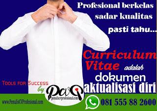 Jasa Pembuatan Curriculum Vitae dan Surat Lamaran Kerja ProfesionalJasa Pembuatan Curriculum Vitae dan Surat Lamaran Kerja Profesional