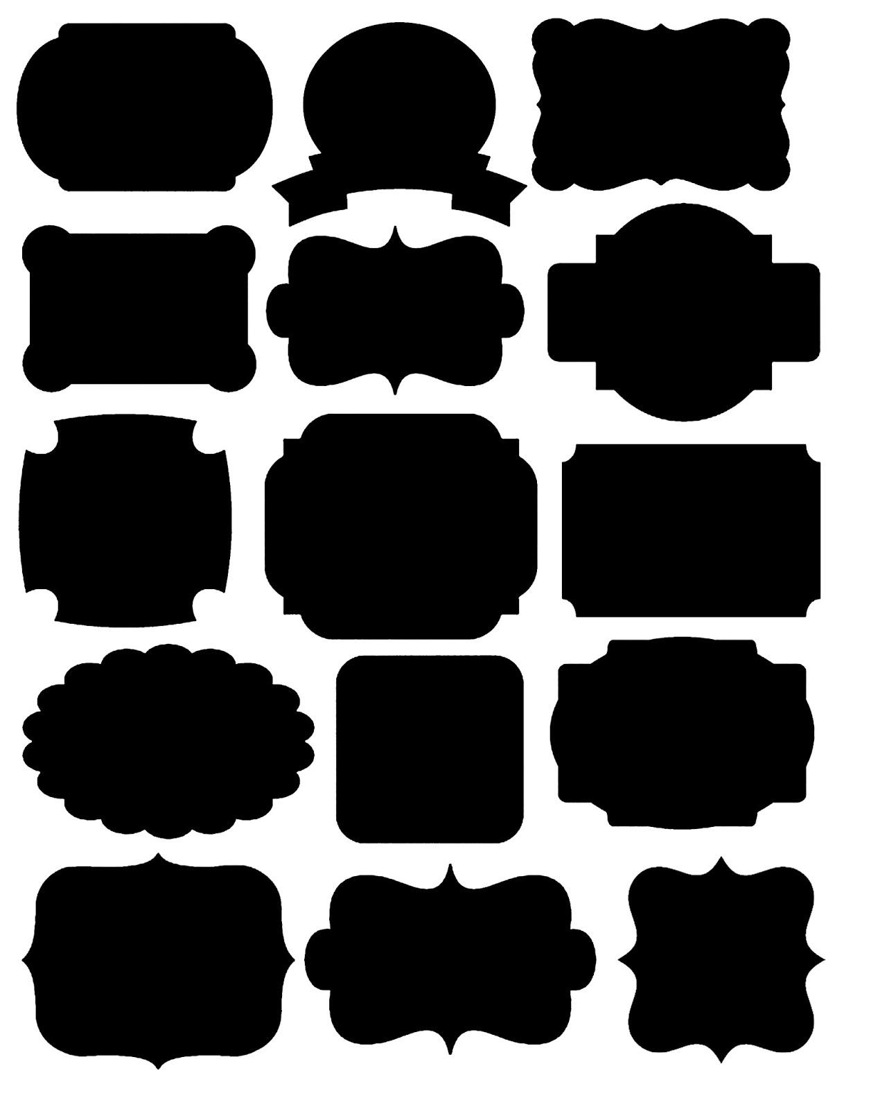 Doodlecraft: Freebies! Printables Labels And Chalkboard Fonts