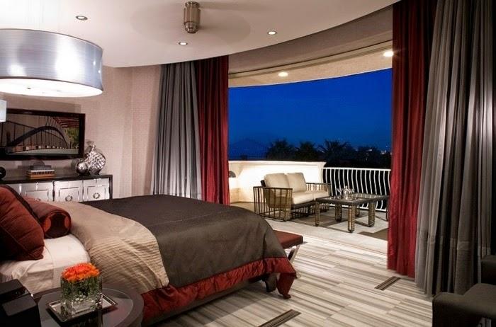 Habitaciones en rojo y gris dormitorios colores y estilos - Dormitorio negro y rojo ...