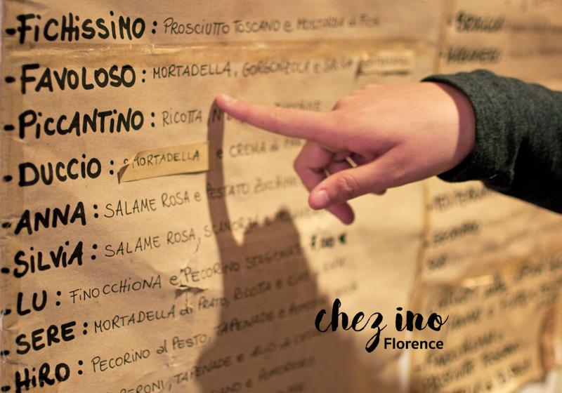 Menu des panini de Chez ino Firenze, épicerie fine