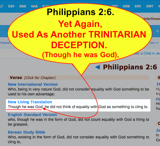 Philippians 2:6. Yet Again, Used As Another TRINITARIAN DECEPTION.