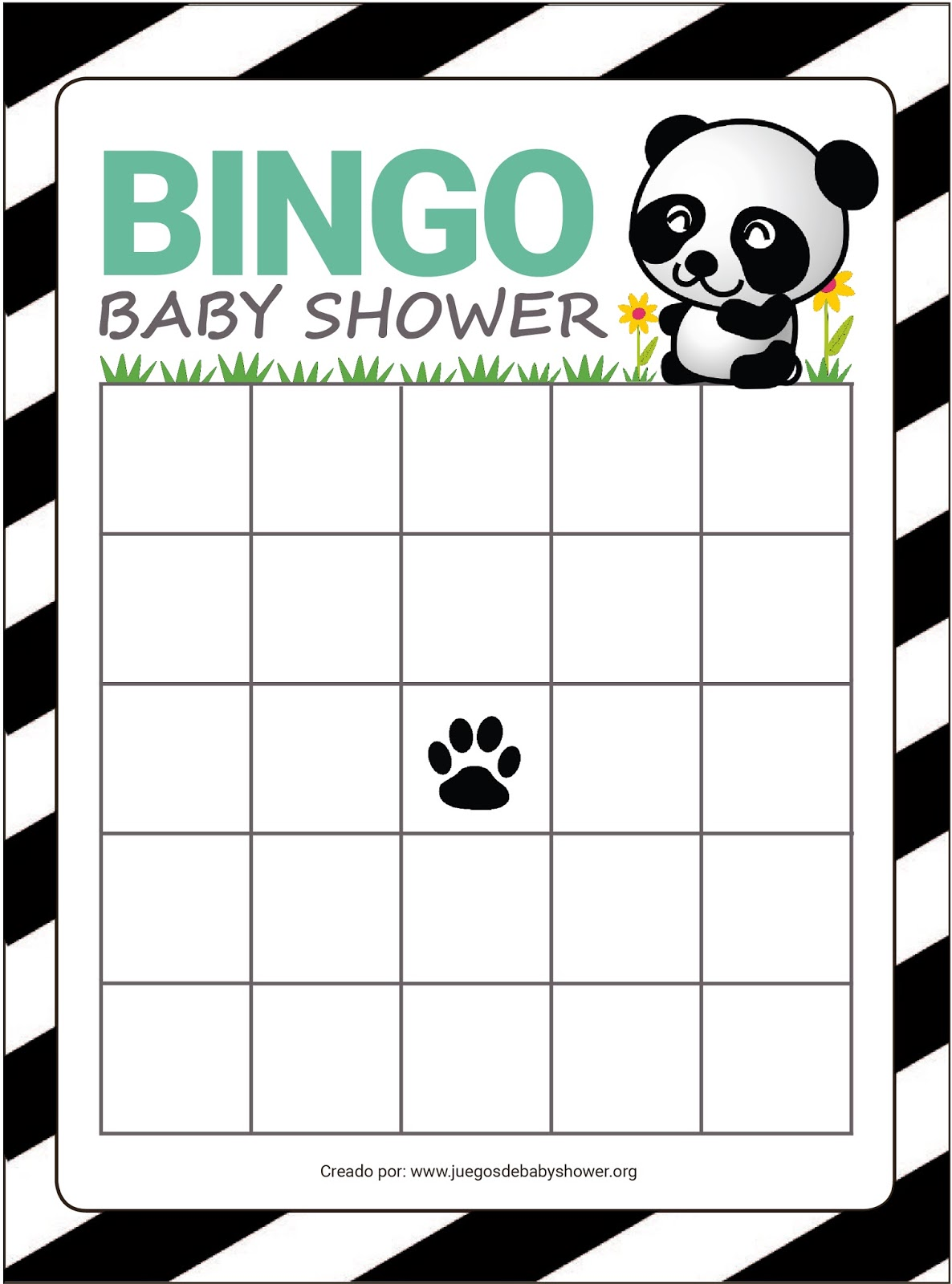 Suficiente Bingo para Baby Shower | Juegos de Baby Shower QG68