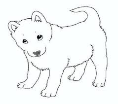 Printable Siberian Husky Dog Coloring Pages For Kids