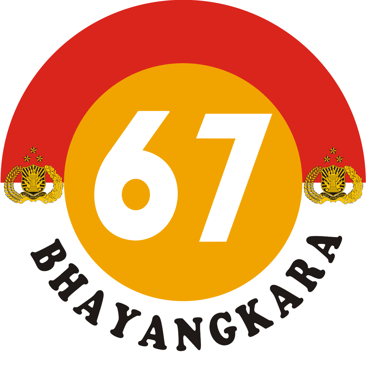 Logo Hari Ulang Tahun HUT Dirgahayu Ke 67 Tahun Bhayangkara