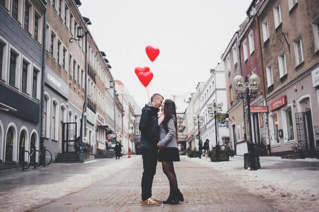 Couple Walking on City Street HD Copyright Free Image