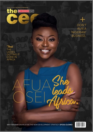 """Co-founder of She Leads Africa Afua Osei Covers Business Day's """"The CEO"""" Magazine"""