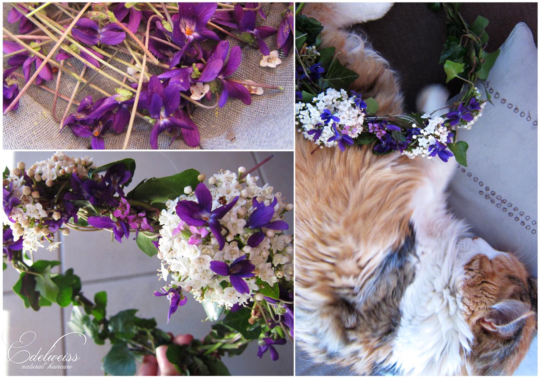 journal capillaire d 39 edelweiss diy couronne de fleurs ii et maquillage tons violets. Black Bedroom Furniture Sets. Home Design Ideas
