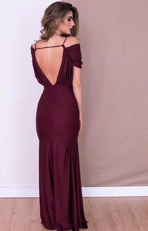 vestido vinho marsala