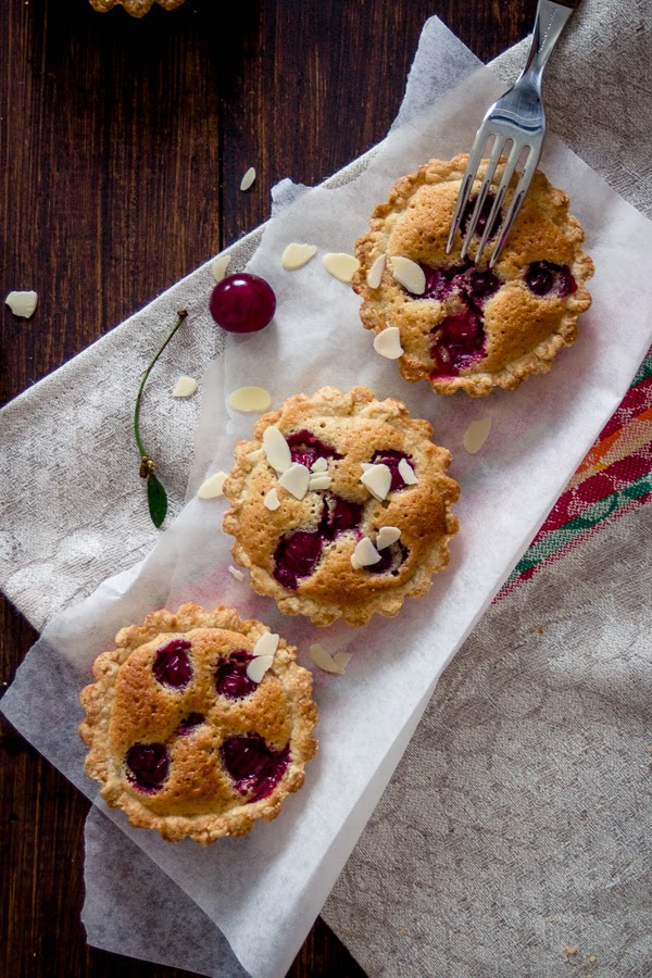 Cherry & Almond Frangipane Tartelettes recipe tarts
