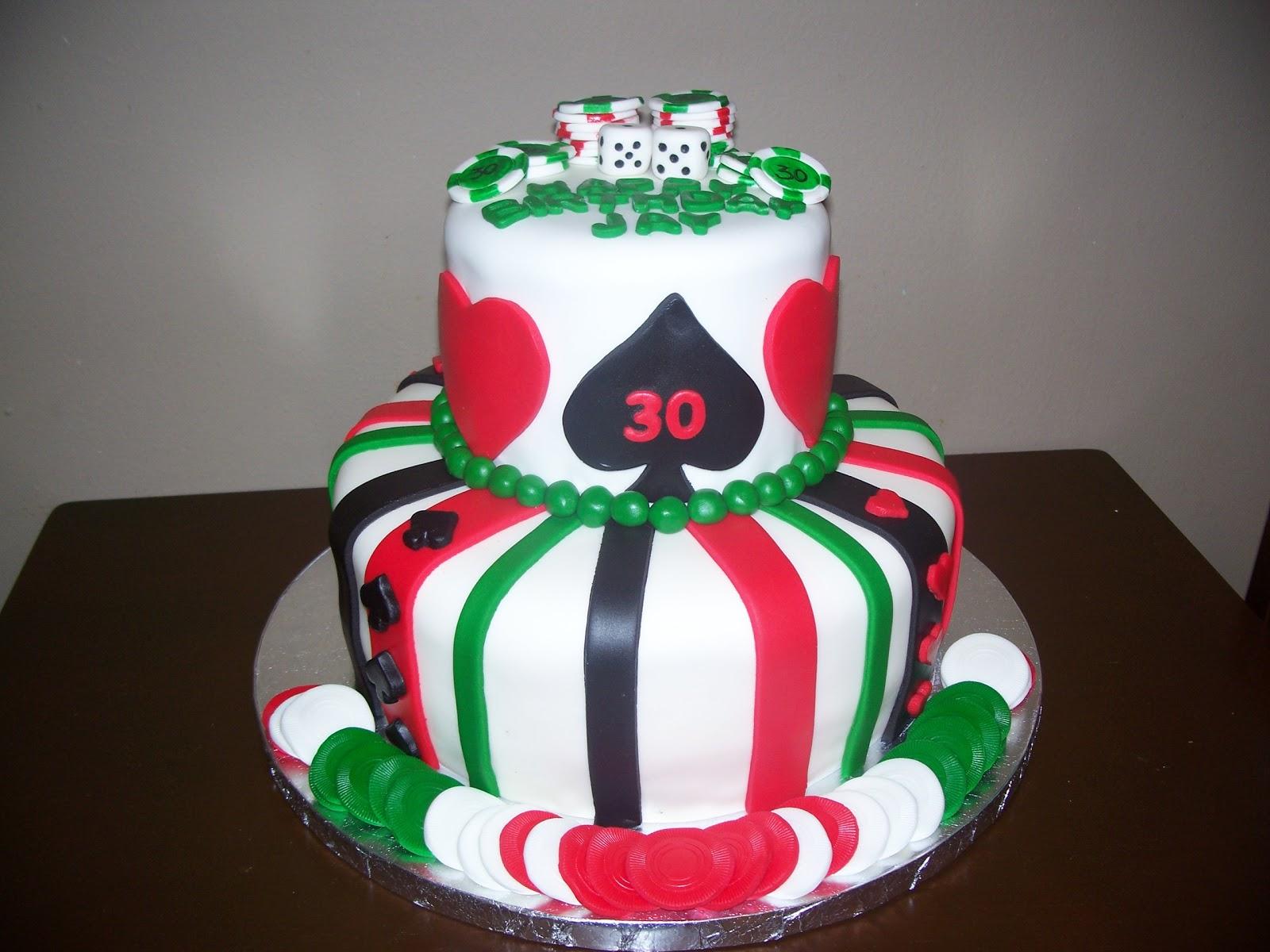 Sweetdaisycakes Poker Themed 30th Birthday Cake
