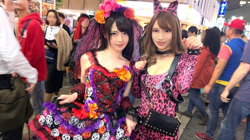 CENSORED 200GANA-1928 渋谷ハロウィン当日!大騒ぎ!逮捕者続出のさなか、仮装ナンパ師突入!ピンク女豹の巨乳ギャル&小悪魔セクシーな美女2人組にワンチャン狙いでグイグイ声掛けー!暴徒と化したパリピたちを横目に、ホテルで4P乱痴気騒ぎ!! りあ 21歳 ガールズバーでバイト/リン 20歳 ラウンジでバイト, AV Censored