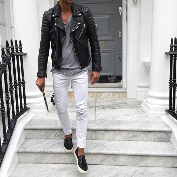 como usar calça branca homem