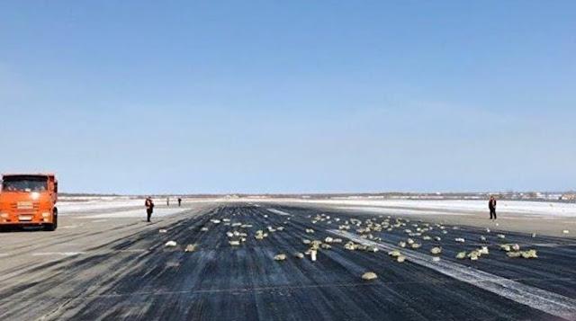 Αεροσκάφος «σκόρπισε» 3,4 τόνους πλάκες χρυσού στον διάδρομο απογείωσης