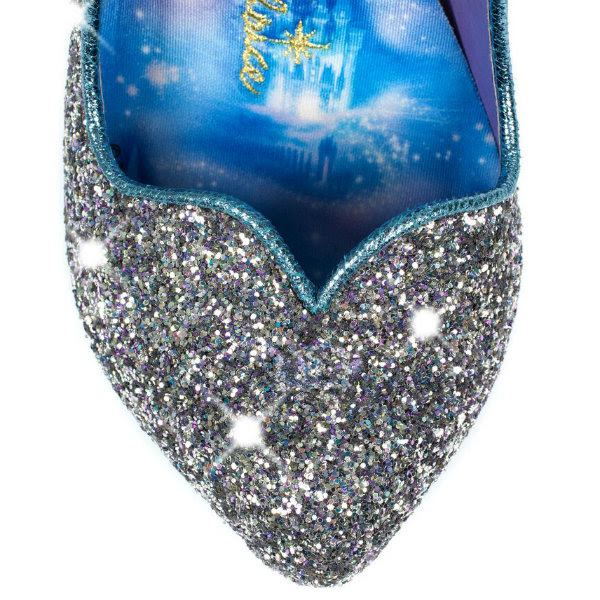 irregular choice cinderella sparkling slipper toe detail