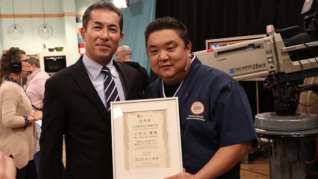 El chef Iwao Komiyama fue reconocido como embajador de la gastronomía japonesa