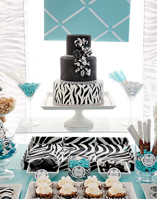 bolo zebra e azul