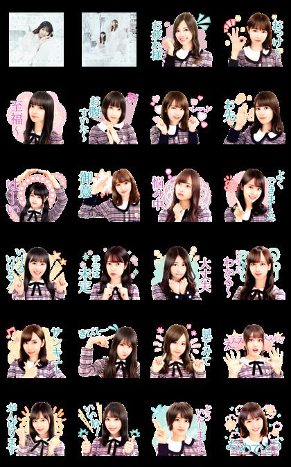 Nogizaka46 22nd Single Song Stickers