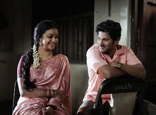 Keerthy Suresh in Saree with Cute Smile with Dulqer Salmaan in Mahanati
