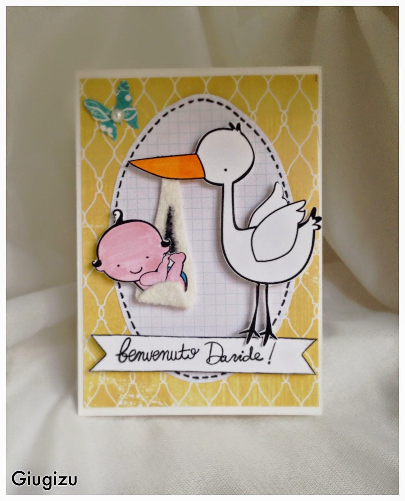 abbastanza Giugizu's corner: D.I.Y. Welcome baby boy card + frame - Biglietto  PP43