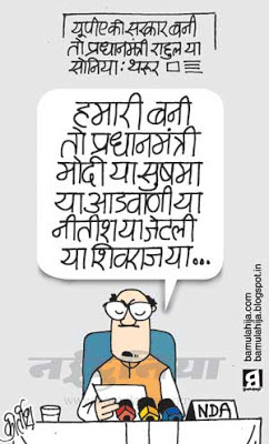 sushma swaraj cartoon, lal krishna advani cartoon, narendra modi cartoon, bjp cartoon, election 2014 cartoons, indian political cartoon