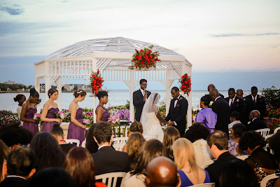 Creative outdoor wedding ceremony photography.