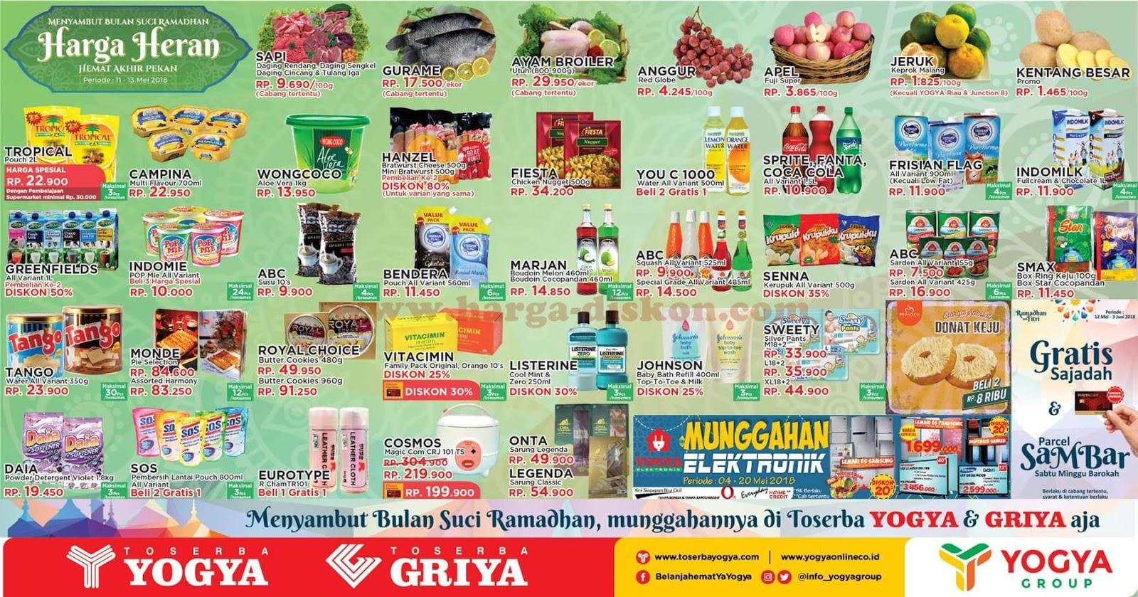 Katalog Harga Toserba Yogya Promo Jsm Akhir Pekan 11 13 Mei 2018 News And Talking