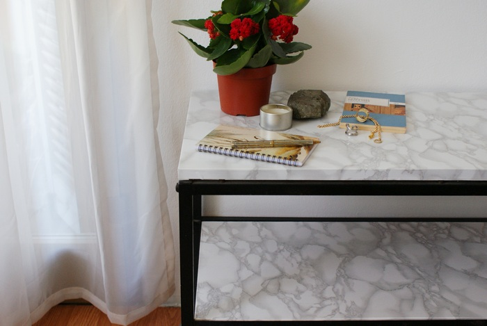 faux marble table tavolo diy
