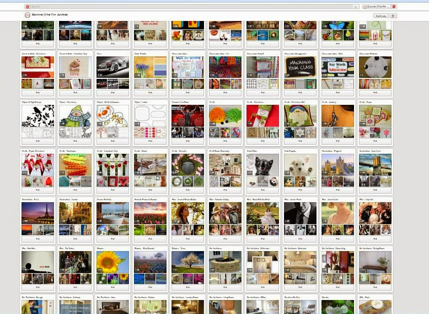 how to minimize Pinterest boards