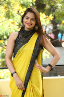 Cute Actress Ashwini in Yellow Saree Exclusive  016.JPG